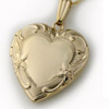Gold Heart Locket - Photo Locket