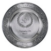50th Pewter Anniversary Plate