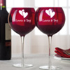 Personalized Valentine Balloon Glasses